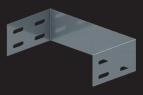 KBL-ES Endstück Befestigung mit 4 Schrauben M 6 x 10