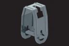KBL-DBS Deckenbügel schwenkbar zur Verwendung mit Gewindestange M 8 oder M 10