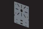 KBL-MPS Montageplatten Befestigung mit 2 Sicherungsclips KBL-SC