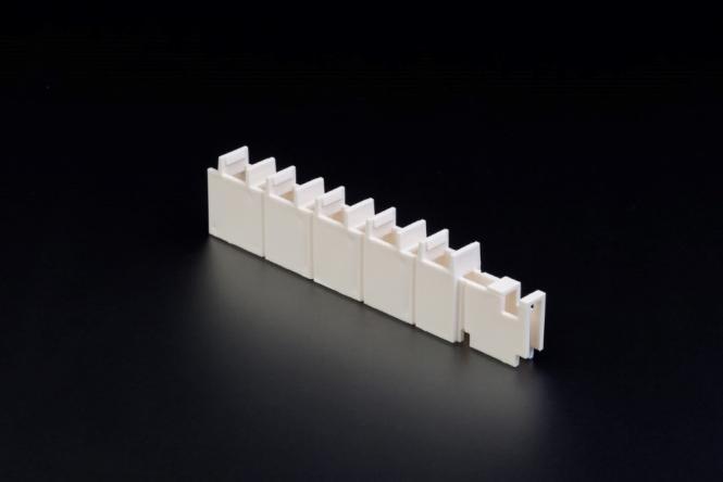 Halter Lüftungslamellen Länge 125 mm Kunststoff, ähnl. RAL 9010