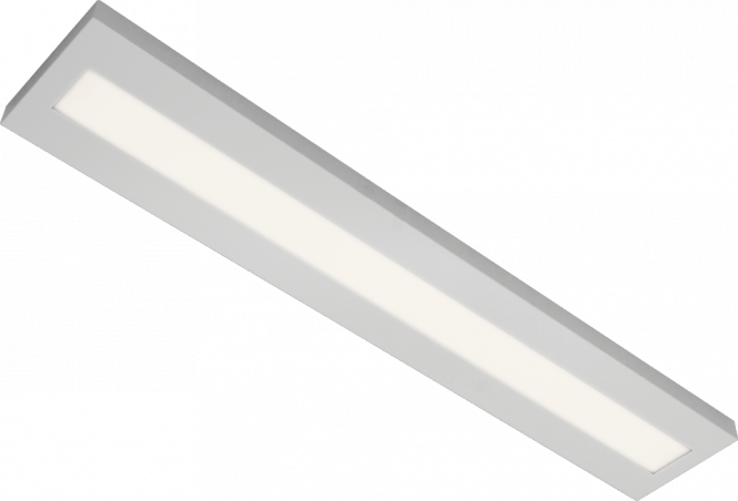 LED Anbauleuchte mit Abdeckung 55/56 Watt, 5000/5100 lm 4000 k, 1230/1440x220x40 mm