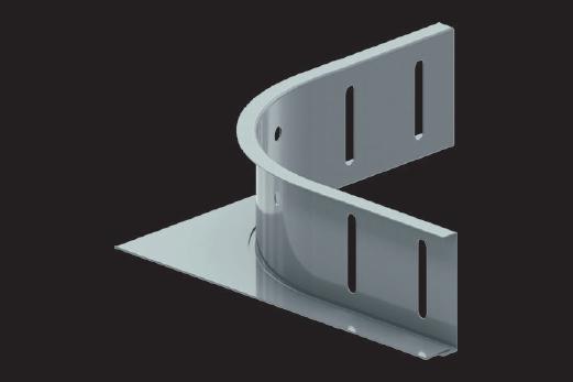 KBL-EAS Eckanbaustücke Befestigung mit 4 Schrauben M 6 x 10