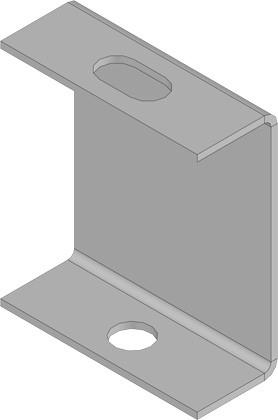 KBL-DGB Deckenbügel Für Gewindestange 8 o. 10 mm Stahlblech, Sendzimirverzinkt