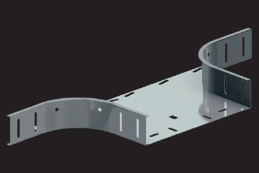 KBL-TA T-Abzweige Radius: 100 mm, Befestigung mit 8 Schrauben M 6 x 10