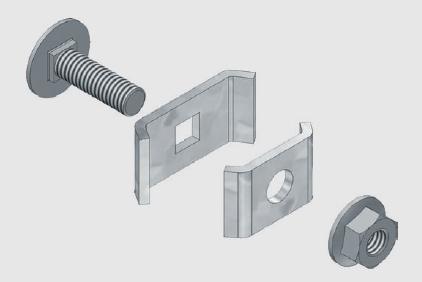 GBL 35 / 60 Verbinder 100 Stück pro VE Stahlblech, Sendzimirverzinkt