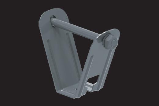 KBL-DBT Deckenbügel für Trapezblechdecken für die Befestigung der Kabelbahnen an Trapezblechdeckenkonstruktionen