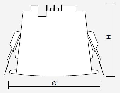 TRENDLIGHT Einbau-Downlight mit Reflektor IP65, UGR<19