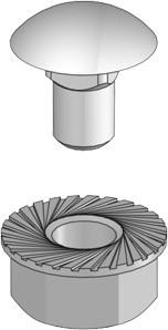 Schraubengarnitur M6x10 verdrehsicher, DIN 6923 / 4.8 Stahl, Galvanisiert, VE: 100