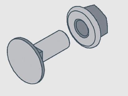 Schraubengarnitur M 10 verdrehsicher
