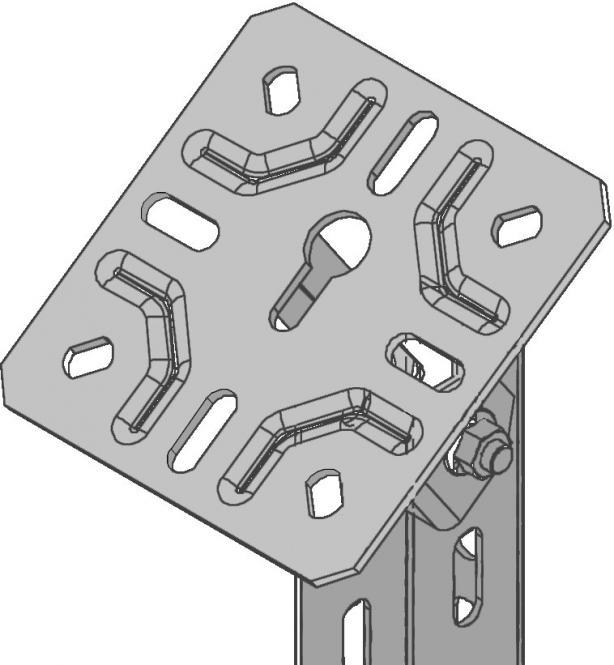 KBL-GK Gelenk-Kopfplatte std. 150 x 150 mm Stahl, Galvanisiert