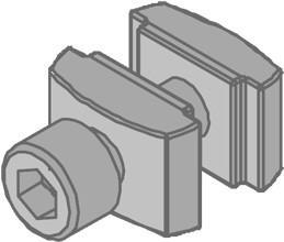 Hammerkopf-Schraubengarnitur M10 Inbusschraube, Beidseitig Stahl,tauchfeuerverzinkt