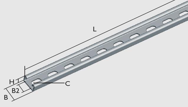 KBL-PS Profilschiene für Gewindestange M8 und M10 geeignet