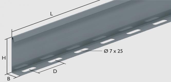 KBL-TS Trennsteg Befestigung mit 3 Schrauben M 6 x 10 je 3 m