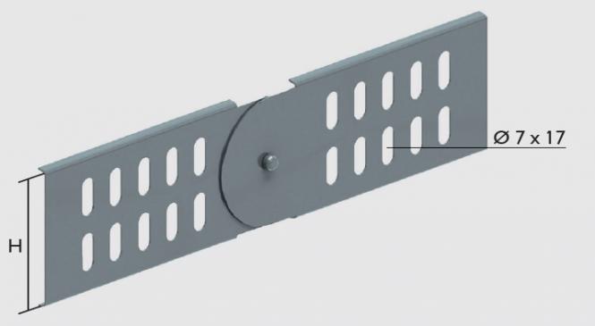 KBL-GV Gelenkverbinder Befestigung mit 4 Schrauben M 6 x 10