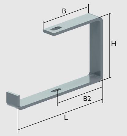 KBL-DB Deckenbügel Montage an Decken oder Gewindestangen M 8 oder M 10