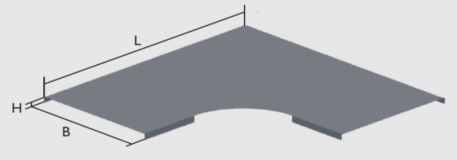KBL-DB 90° Deckel Radius: 100 mm, für Bögen