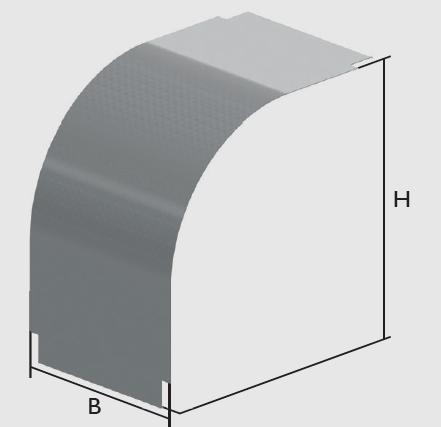 KBL-DAB 90° Deckel für Bögen abwärts 90°