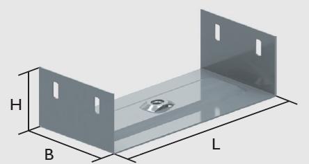 KBL-MA Mittenaufhängungen Lieferung erfolgt mit einer Mutter M10