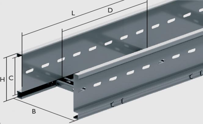 KLL 110 Kabelleiter Kabelleiter 110 mit einem Sprossenabstand 250 mm