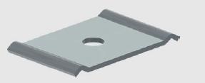 GBL-CA Zentralaufhängung, Paar Für Gitterbahnen bis 150mm Breite,Gewindestangen M6,M8