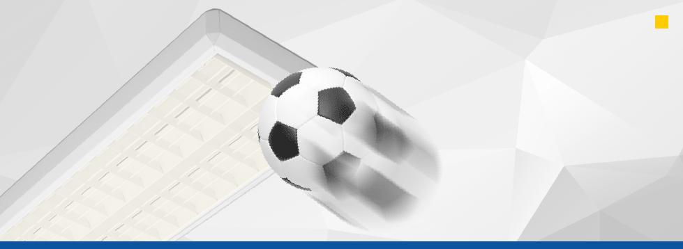 LED Sporthallenleuchte IP 20<br>ballwurfsicher