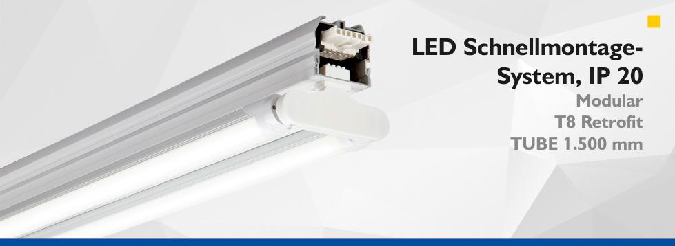 LED Schnellmontage-System, IP20 - Retrofit